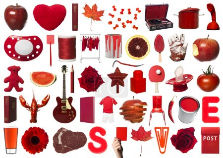 Red Objects Collage