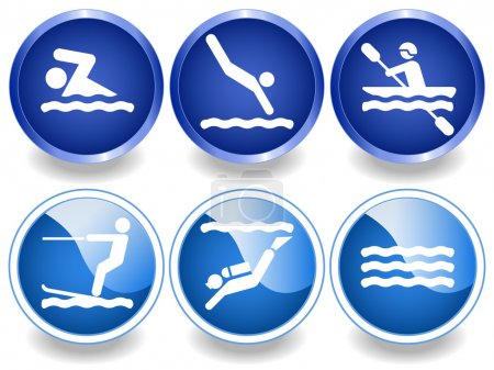 Water icons and stickers