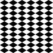 Seamless harlequin pattern-black and white