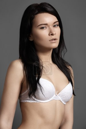 Beautiful slim woman's body. Underwear model, sensual body. Beautiful lacy lingerie. Perfect voluptuous shapes and curves. Healthy lifestyle, diet and sport