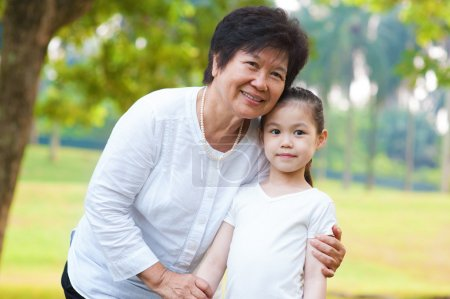 Photo for Asian grandmother and grandchild at outdoor - Royalty Free Image