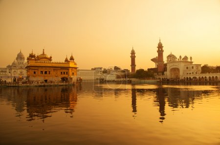 Photo for Sunrise at Golden Temple in Amritsar, Punjab, India. - Royalty Free Image
