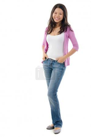 Fullbody Southeast Asian girl