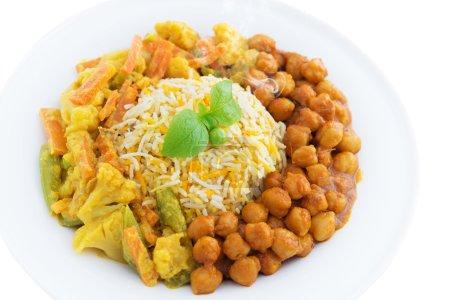 Vegetarian biryani rice or briyani rice, fresh coo...