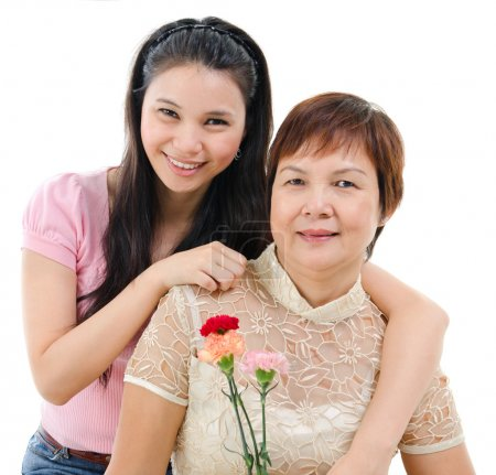 Mother and daughter in mother day
