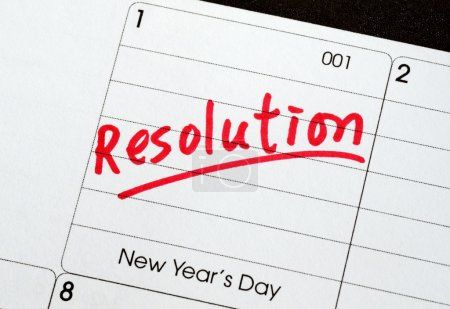 Photo for Resolutions for the New Year concepts of goal and objective - Royalty Free Image