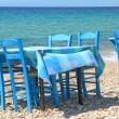 Typical greek tavern - cafe , by the aegean sea...