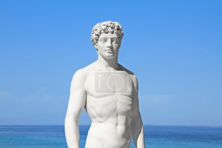 Ancient greek statue of a young athlete