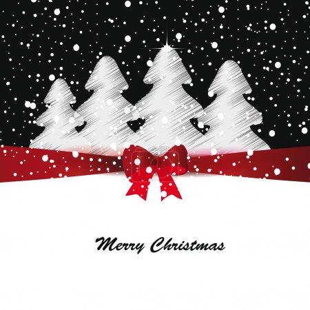 Illustration pour Carte Joyeux Noël et Nouvel An élégante et mignonne - image libre de droit