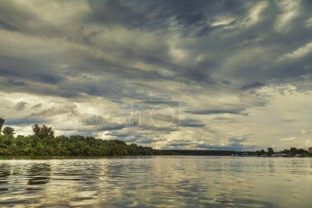 River clouds