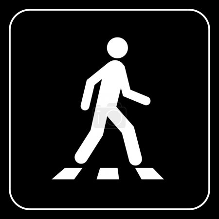 Illustration for Pedestrian symbol, vector - Royalty Free Image