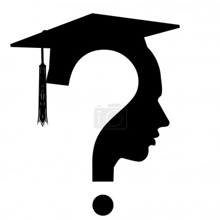 Photo for Question mark head with Education Cup symbol, vector - Royalty Free Image