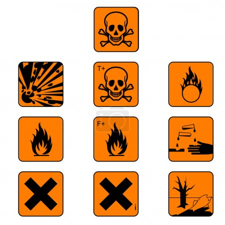 Chemicals hazard symbols