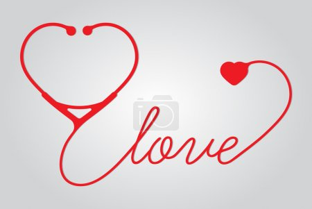 Stethoscope heart with love