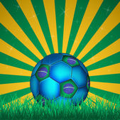 FIFA World Cup Brazil ball on flag illustration