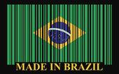 Brazil barcode flag digital sign illustration