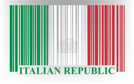 Illustration pour Drapeau italien code-barres, vecteur - image libre de droit