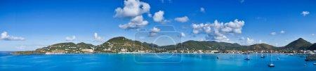 Beautiful panorama of Philipsburg, Saint Martin, Caribbean Islan