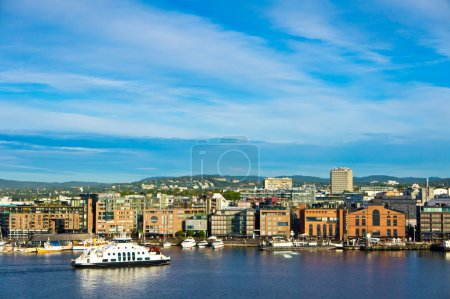 A view of the city of Oslo as seen from the Oslofjord