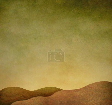 Foto de Ilustración o fondo con paisaje otoñal. Gráficos informáticos . - Imagen libre de derechos