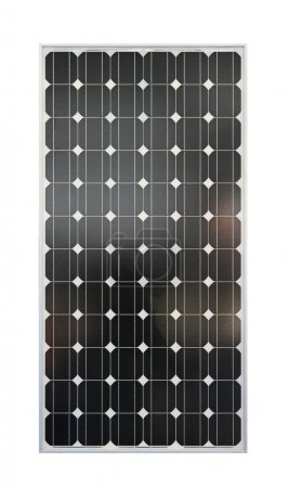 Photo pour Panneau solaire photovoltaïque isolé inclus chemin de coupe - image libre de droit