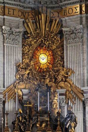 The Throne of Saint Peter in Vatican Basilica...