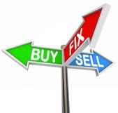 Koupit oprava prodat tři cesty ulic přehodit domácí nemovitostí