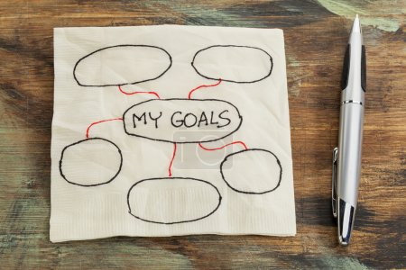 setting goals napkin doodle