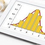 Graph of data histogram  Gaussian distribution on ...