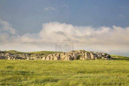 Photo pour Paysage printanier d'une prairie dans le nord du Colorado à Natural Fort près de Carr - image libre de droit