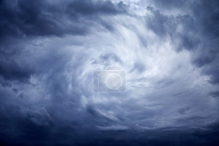 Photo for The gloomy dark stormy sky with clouds - Royalty Free Image