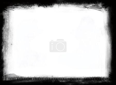 Photo pour Cadre grunge très détaillé avec espace pour votre texte ou image. Grande couche de grunge pour vos projets . - image libre de droit