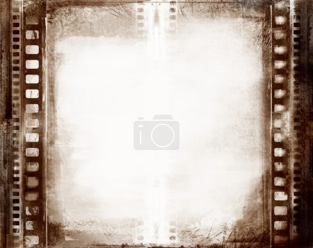Photo for Computer designed highly detailed grunge textured film frame with space for your text or image - Royalty Free Image