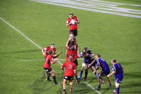 Super Rugby Game Players Line-out Throw