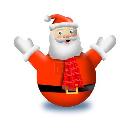Photo pour Illustration du Père Noël sur fond blanc isolé . - image libre de droit