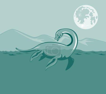 Loch Ness Monster Retro
