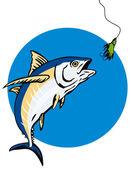 Albacore Tuna Fish Retro