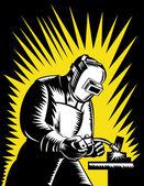 Welder Metal Worker Welding Retro