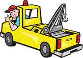 řidič vozidla odtahové vozidlo palec nahoru