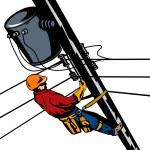 Постер, плакат: Power Lineman Telephone Repairman Electrician