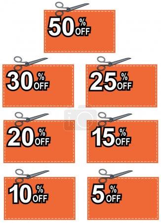 Scissors Cutting Coupon Per Cent Sign