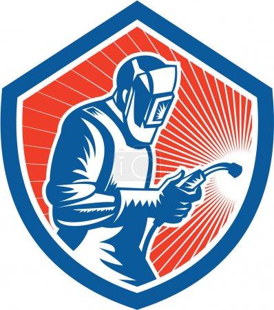 Welder Fabricator Welding Torch Side Shield Retro