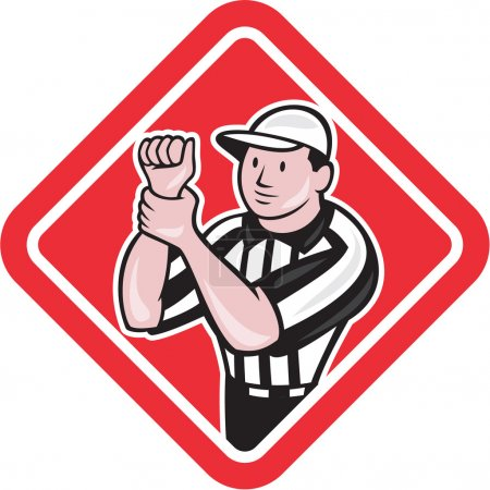 American Football Referee Illegal Use Hands