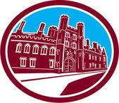 St John's College Cambridge Building Retro