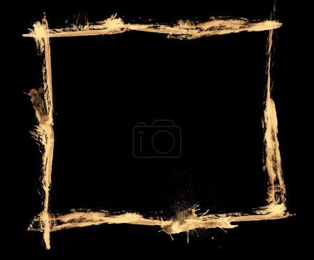 Photo pour Coups de pinceau peints sur fond noir donnant effet grunge - image libre de droit