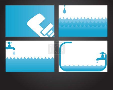 Four plumbing cards