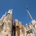 BARCELONA, SPAIN - : La Sagrada Familia - the impr...