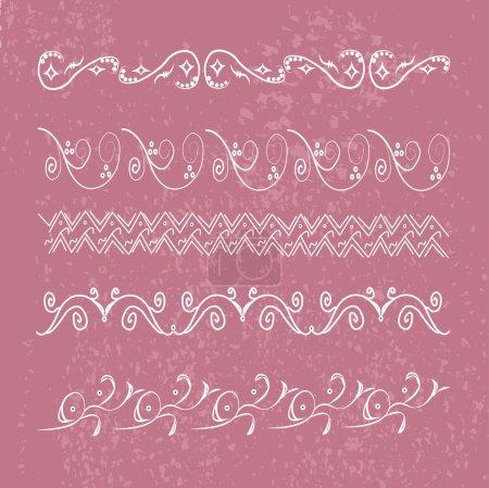 Photo pour Image d'un ensemble de motifs antiques sur un fond coloré . - image libre de droit