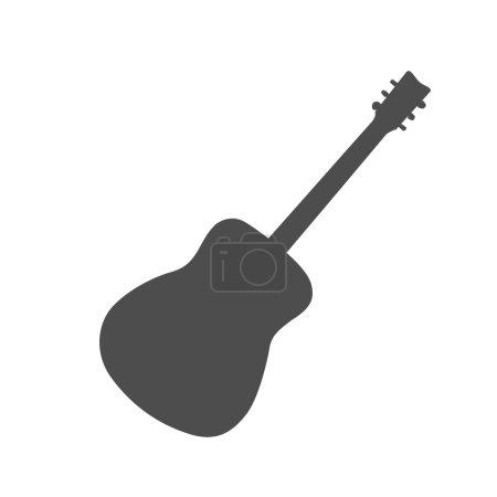 Guitar Vector Silhouette
