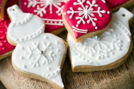 Photo for Christmas bauble cookies - Royalty Free Image